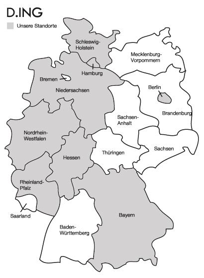 Standorte D.ING